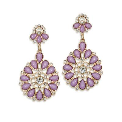 Mauve Color Drop Earrings