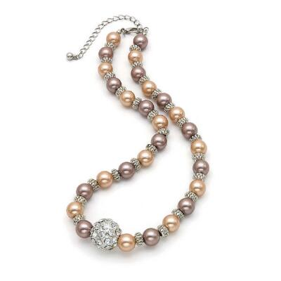 Earth Tone Pearl Necklace