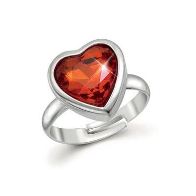 Adjustable Red Crystal Ring
