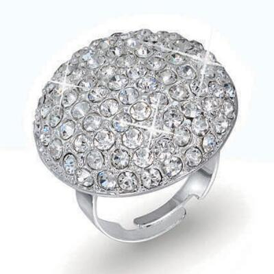 Silvertone Adjustable Ring