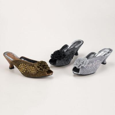 Elegance Open-toe Slides by John Fashion