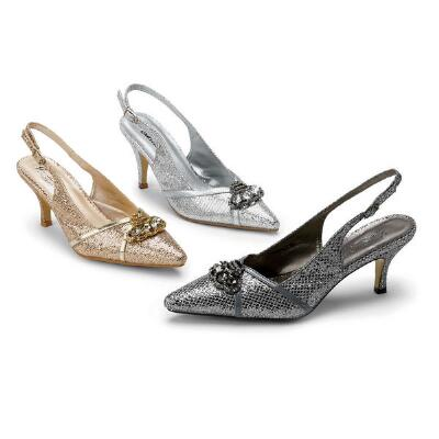 Metallica Slingbacks  J. Loren Collection