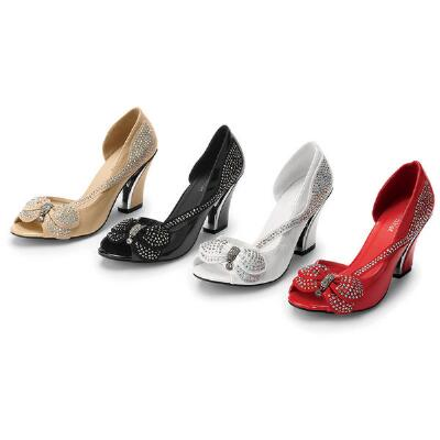 Butterfly Peep-toe Pumps by John Fashion