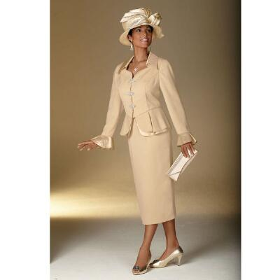 Pretty Peplum Suit by Lisa Rene