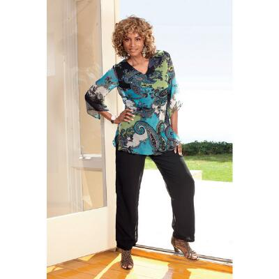 Paisley Park Georgette Tunic and Pants Set