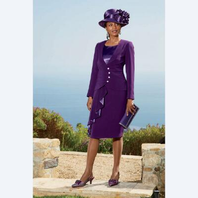 Plum Perfect Dress and Jacket