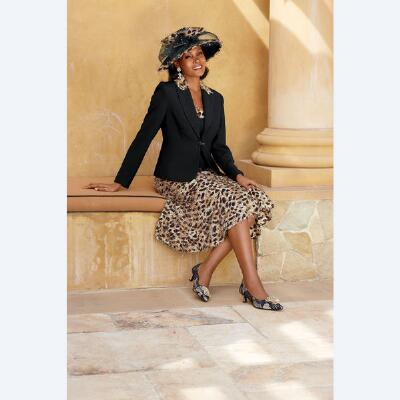 Touch of Leopard 3-Pc. Skirt Set Verucci by Chancelle