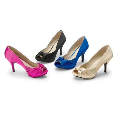 Touch of Elegance Peep-toe Pumps  Coup d'Etat Ltd.
