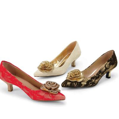 Gilded Age Pumps by EY Couture