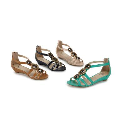Jeweled T-strap Sandals from EY Couture