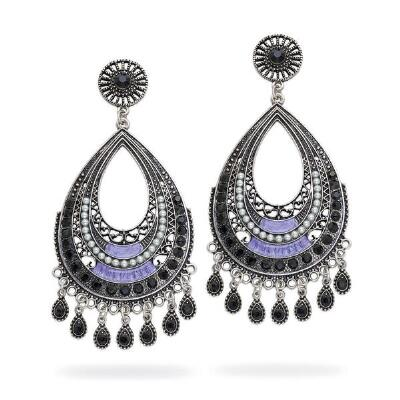 Embellished Teardrop Chandelier Earrings