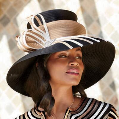 Intricate Ribbon Hat by Verucci
