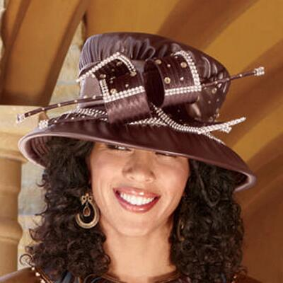 Pleather Tone Hat by Tally Taylor