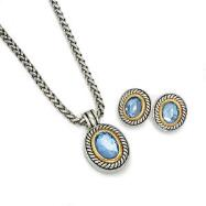 Silver Tone Necklace & Earring Set