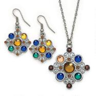 Silvertone Plated Necklace Set