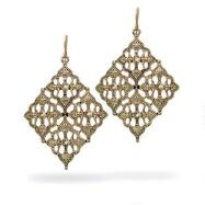 Antiqued Diamond-Shaped Earrings