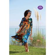 Longer Length V-neck Caftan with FREE Matching Headwrap