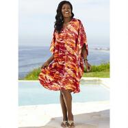 Silky Short Caftan by EY Signature