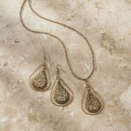 Teardrop Necklace and Earrings Set