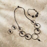 Inner Circle Necklace, Bracelet and Earrings Set