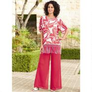 Fringed Tunic and Palazzo Pants Set by EY Boutique