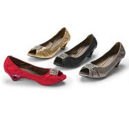 Curvy Peep-toe Pumps by John Fashion