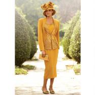 Pleats of Paula 3-Pc. Suit by Champagne Italy