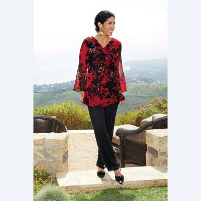 Georgette Tunic and Pants Set by JMB Signature