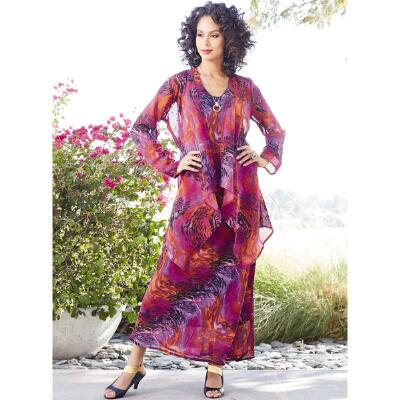 Botanica Georgette Dress and Duster Set by JMB Signature