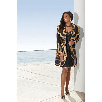 Bold Scrolled 4pc Wardrober Suit by Tally Taylor
