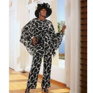 Giraffique 3-Pc. Pants Suit by Tally Taylor