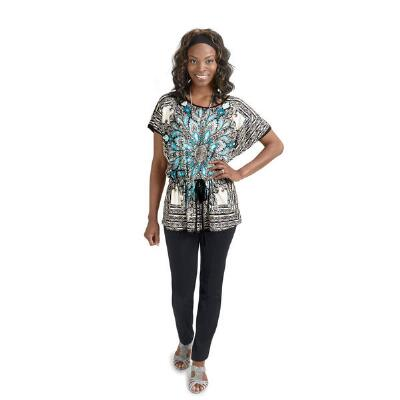 Blue Multi Print Tunic from Milano
