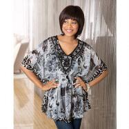 Abstract Border Print Tunic