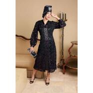 Midnight Lace Duster and Dress by Lisa Rene