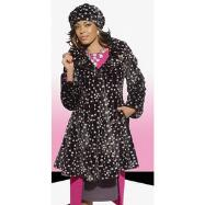 Polka Dot Fur Coat with Hat by Donna Vinci