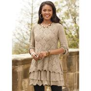 Lace-Trim Tunic Sweater by John Fashion