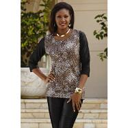 Leopard with Leatherette Top by Studio EY