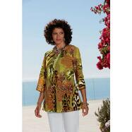 3/4-Sleeve Beaded Tunic by EY Signature