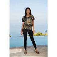 Bold Print Top by Milano Couture