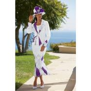 White and Bright 3-Pc. Suit by Tally Taylor