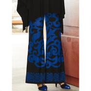 Scroll Jersey Palazzo Pants by Studio EY