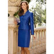 Lined Signature of Style Skirt Suit by EY Signature