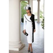 Dominoes Skirt Suit by Lisa Rene