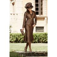 Chocolate Chic Dress and Jacket by Tally Taylor