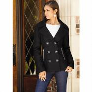 Washable Pea Coat by Excelled