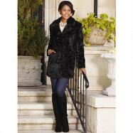 3/4 Sheared Faux-Fur Coat by Studio EY
