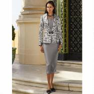 Chevron Brocade 3-Pc. Suit by Tally Taylor