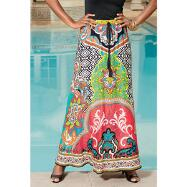 Global-Print Maxi Skirt by Studio EY