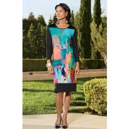 Impressionist Jersey Dress by Lux Moda by Donna Vinci