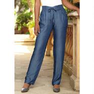 Denim Tencel Pants by Studio EY